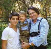 Christian G. Binder mit seinen Kindern